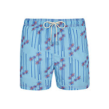 Buy Oiler & Boiler Tuckernuck Palm Print Swim Shorts, Cool Blue Online at johnlewis.com