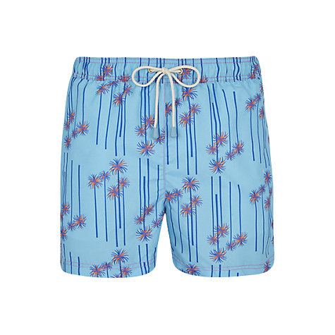 Buy Oiler & Boiler Tuckernuck Palm Print Shorts, Cool Blue Online at johnlewis.com
