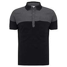 Buy Diesel Bi-Tone Polo Top, Black/Grey Online at johnlewis.com