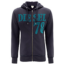 Buy Diesel S-Nalin Hooded Sweat Top, Navy Online at johnlewis.com