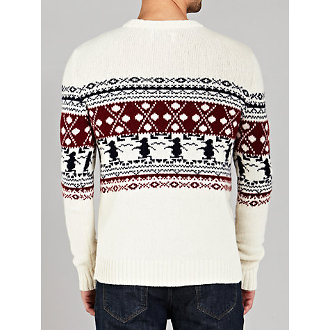 Buy Original Penguin Christmas Jumper, White Online at johnlewis.com