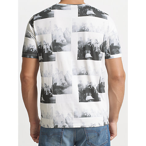 Buy Diesel Photographic Print T-Shirt, White/Black Online at johnlewis.com