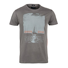 Buy Armani Jeans Boat On Sea Logo T-Shirt, Grey Online at johnlewis.com