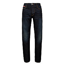 Buy Armani Jeans Slim Straight Leg Jeans, Blue Wash Online at johnlewis.com