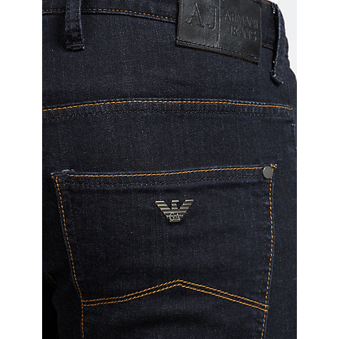 Buy Armani Jeans Slim Fit Jeans Twill Cotton Jeans, Indigo Online at johnlewis.com