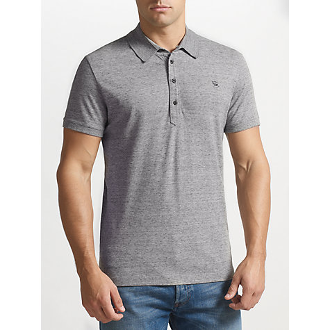 Buy Diesel Alfred Stretch Cotton Polo Top, Grey Online at johnlewis.com