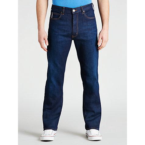 Buy Armani Jeans Straight Jeans, Dark Wash Online at johnlewis.com
