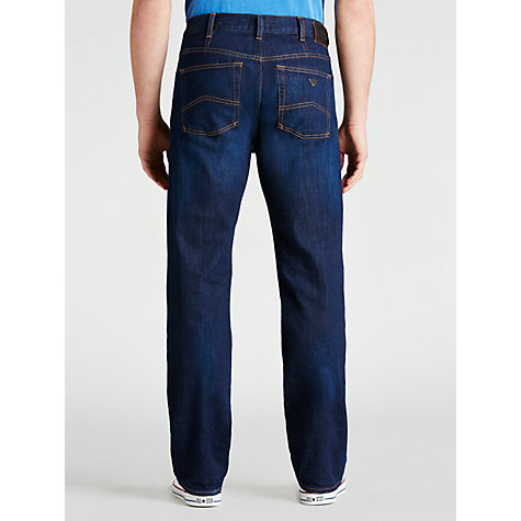 Buy Armani Jeans Regular Straight Jeans, Dark Wash Online at johnlewis.com