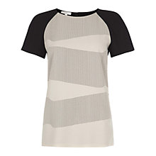 Buy Hobbs Clara Top, Black/Stone Online at johnlewis.com