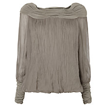 Buy Phase Eight Gypsy Silk Blouse, Grey Online at johnlewis.com