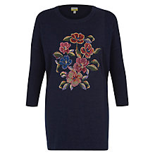 Buy NW3 by Hobbs Tapestry Jumper, French Navy Online at johnlewis.com