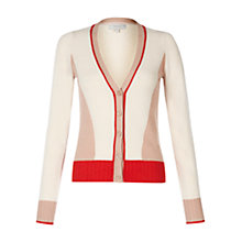 Buy Hobbs Fay Cardigan, Fire Red Multi Online at johnlewis.com