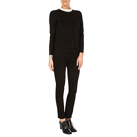 Buy Hobbs Esme Cardigan, Black Online at johnlewis.com