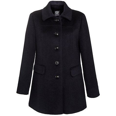 Buy Basler Button Down Coat, Navy Online at johnlewis.com