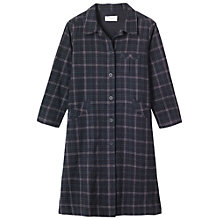 Buy Toast Long Checked Shirt, Navy/Green Online at johnlewis.com