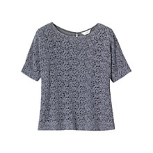 Buy Toast Lace Top, Grey blue Online at johnlewis.com