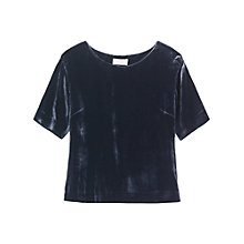 Buy Toast Velvet Top, Blue/Black Online at johnlewis.com