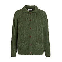 Buy Toast Cable Knit Cardigan, Forest Green Online at johnlewis.com