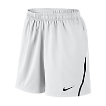 Buy Nike Power Woven Shorts, White/Black Online at johnlewis.com