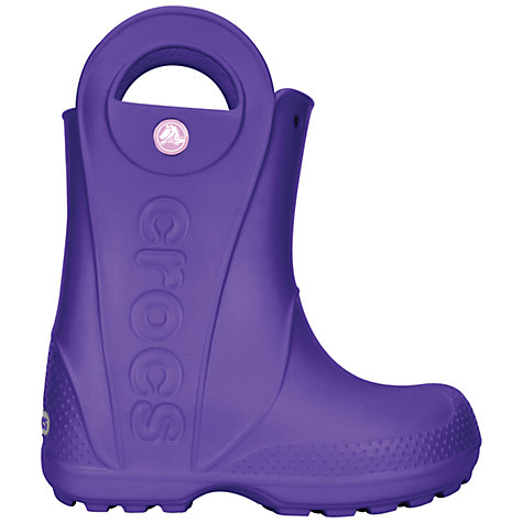 Buy Crocs Kids' Handle It Rain Boots, Violet Online at johnlewis.com