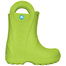 Buy Crocs Kids' Handle It Rain Boots, Volt Green Online at johnlewis.com