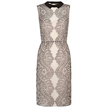 Buy Hobbs Emilia Dress, Nude/Black Online at johnlewis.com
