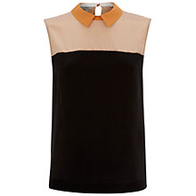 Buy Hobbs Shelby Silk Top, Black/Multi Online at johnlewis.com