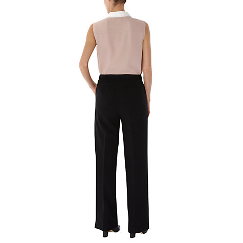 Buy Hobbs Lola Trousers, Black Online at johnlewis.com