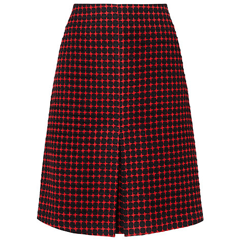 Buy Phase Eight Adelaide Skirt, Black/Red Online at johnlewis.com