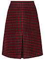 Phase Eight Adelaide Skirt, Black/Red