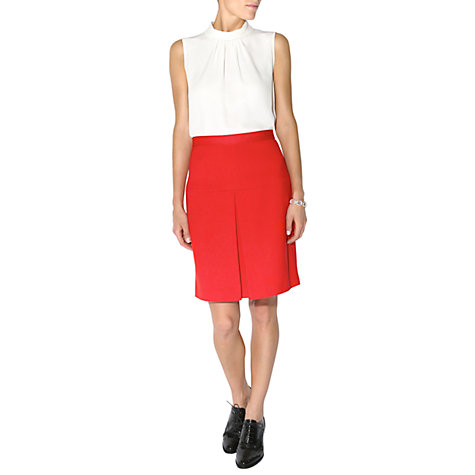 Buy Hobbs Ella Skirt, Fire Red Online at johnlewis.com