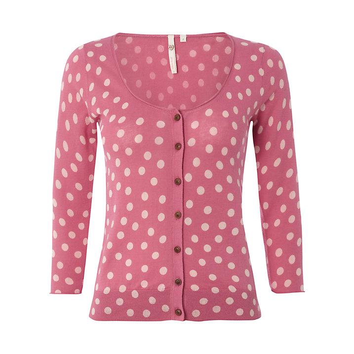 Buy White Stuff Sweet Dreams Cardigan, Raspberry Sorbet, 6 Online at johnlewis.com