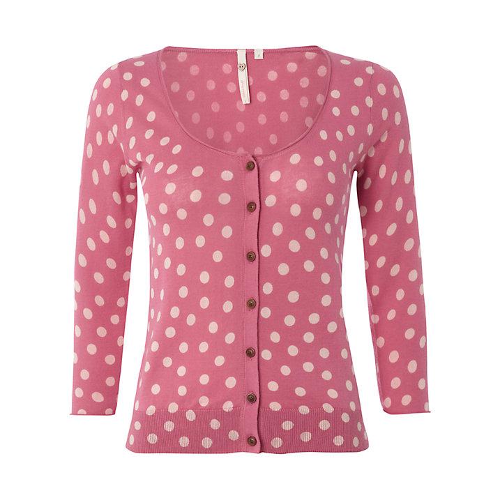 Buy White Stuff Sweet Dreams Cardigan, Raspberry Sorbet, 6 Online at johnlewis.com