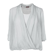 Buy Phase Eight Julia Twist Front Blouse, Grey Online at johnlewis.com