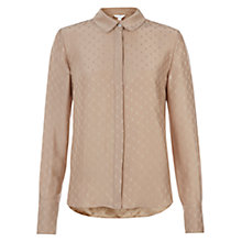 Buy Hobbs Esme Blouse, Nude Pink Online at johnlewis.com