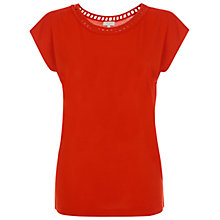 Buy Hobbs Parlour Top, Fire Red Online at johnlewis.com