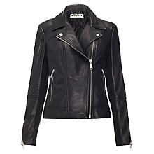 Buy Whistles Lita Jacket, Black Online at johnlewis.com