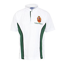 Buy Watford Boys' Grammar School Polo Shirt, White/Bottle Green Online at johnlewis.com