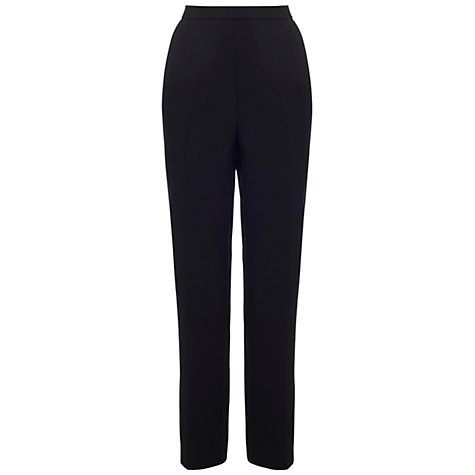 Buy Whistles Louise Clean Peg Trousers, Black Online at johnlewis.com