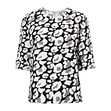 Buy Whistles Leopard Print Sculpted Top, Multi Online at johnlewis.com
