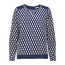 Buy Whistles Ovoid Sweatshirt, Blue/Multi Online at johnlewis.com