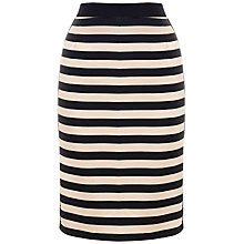 Buy Whistles Stina Striped Pencil Skirt, Multi Online at johnlewis.com