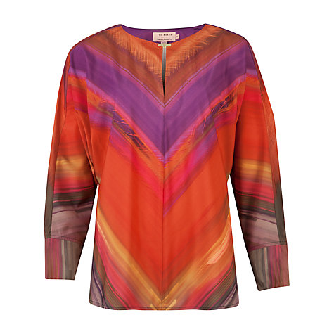 Buy Ted Baker Stassii Bat Wing Top, Deep Purple Online at johnlewis.com