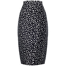 Buy Whistles Blurred Spot Pencil Skirt, Black/White Online at johnlewis.com