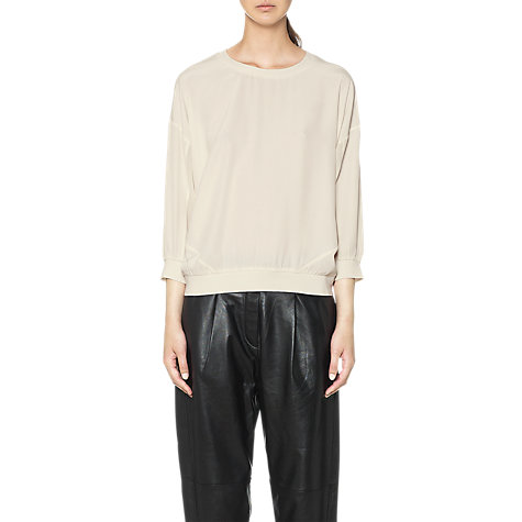 Buy Whistles Libby Silk Sweatshirt, Ivory Online at johnlewis.com