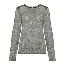 Buy Whistles Anna Textured Top, Khaki Online at johnlewis.com