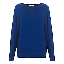 Buy Whistles Elsa Silk Mix Boxy Jumper, Blue Online at johnlewis.com