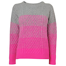Buy Boutique by Jaeger Ombre Jumper, Bright Pink Online at johnlewis.com