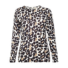 Buy Whistles Animal Floral Print Jumper, Neutral Online at johnlewis.com