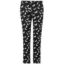 Buy Boutique by Jaeger Bird Print Jacquard 7/8 Trousers, Black Online at johnlewis.com